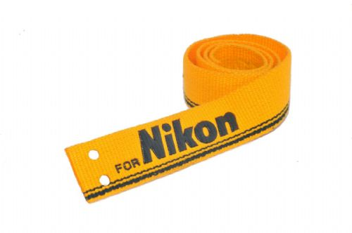 Webbing Nylon strap weave 30mm Wide 665mm Long Yellow Embossed for Nikon
